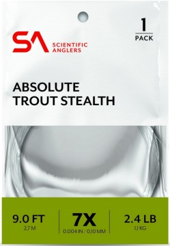 SA Absolute Trout Stealth Leader 9 fot
