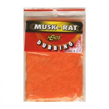 Muskrat dubbing 06 Fluo Orange