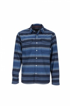 Simms Gallatin Flannel Shirt Rich Blue Strip