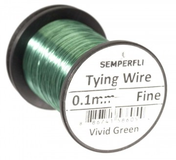 Semperfli Ultrafine 0.1mm Wire Thin Vivid Green