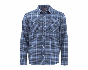Simms Gallatin Flannel Rich Blue Plaid UTGÅENDE