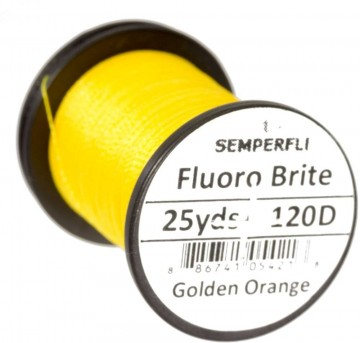 Fluoro Brite bindetråd 120D golden orange