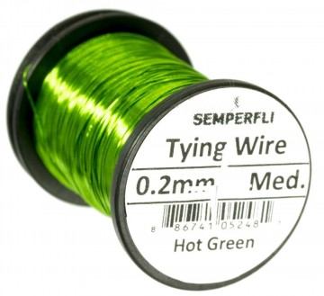 Semperfli wire 0.2 mm Hot Green