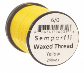 Semperfli bindetråd Classic Waxed 12/0 yellow