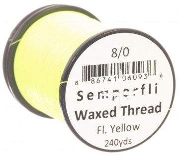 Semperfli bindetråd Classic Waxed 8/0 fluoro yellow