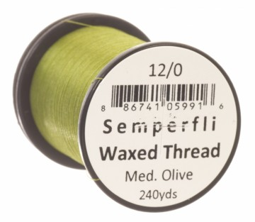 Semperfli bindetråd Classic Waxed 12/0 medium olive