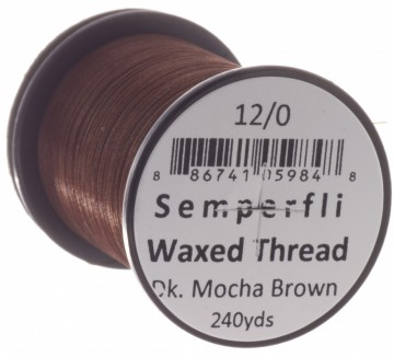 Semperfli bindetråd Classic Waxed 12/0 dark mocha brown