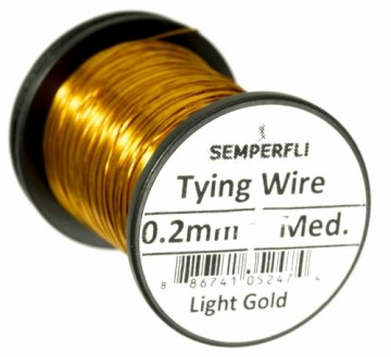 Semperfli Wire 0.2 mm Light Gold