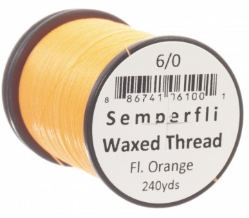 Semperfli bindetråd Classic Waxed 6/0 fluoro orange