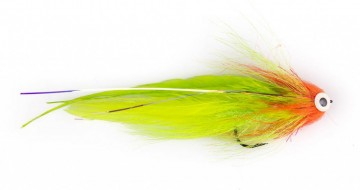 Bauers Pike Deveiver red & chartreuse