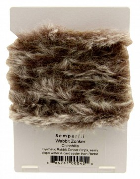 Semperfli synthetic rabbit zonker - chinchilla