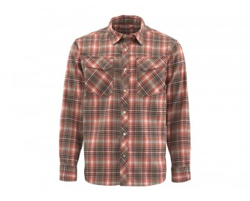 Simms Gallatin Flannel Simms Orange Plaid
