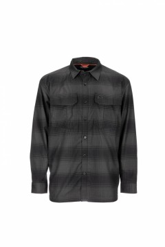 Simms Coldweather Shirt Black Slate Plaid