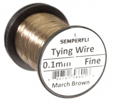 Semperfli wire 0.1 mm March Brown