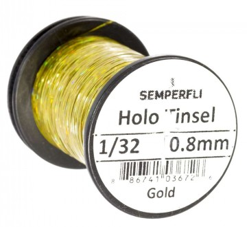 Semperfli holographic tinsel gold