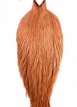 Whiting Coq De Leon Rooster Cape badger dyed salmon
