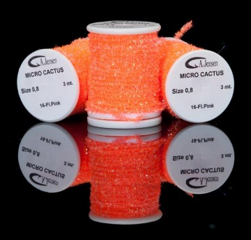 Micro Cactus chenille fluo pink