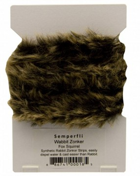 Semperfli synthetic rabbit zonker - fox squirrel