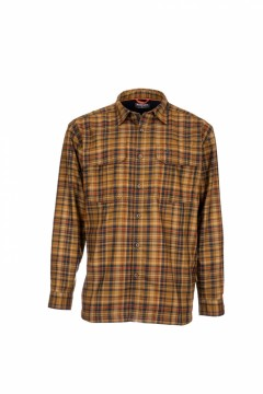 Simms Coldweather Shirt Dark Bronze Admiral Plaid