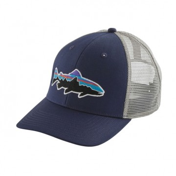 Patagonia Fitz Roy Trout Trucker Hat - Classic Navy w/drifter grey
