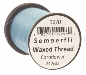 Semperfli bindetråd Classic Waxed 12/0 cornflower