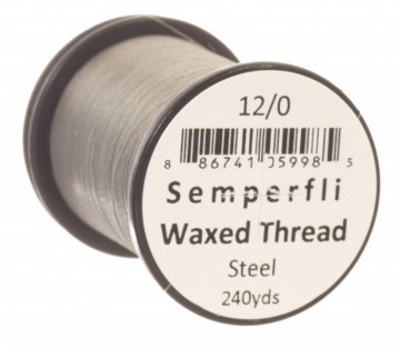Semperfli bindetråd Classic Waxed 12/0 steel