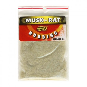 Muskrat dubbing 36 Light Grey