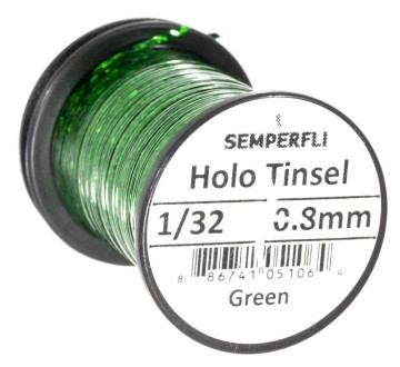 Semperfli holographic tinsel green