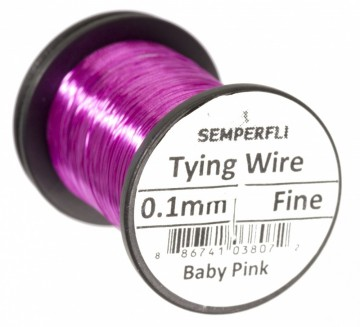 Semperfli Ultrafine 0.1mm Wire Thin Baby Pink
