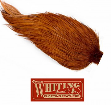 Whiting Silver Grade Cape white dyed natural brown