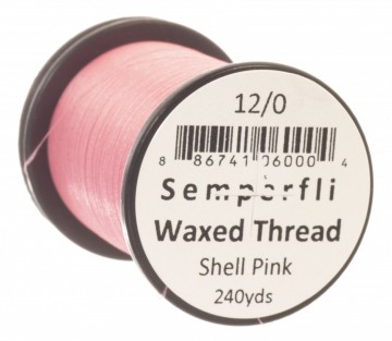 Semperfli bindetråd Classic Waxed 12/0 shell pink