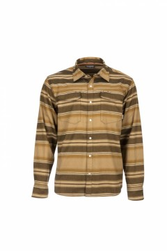 Simms Gallatin Flannel Shirt Dark Bronze stripe