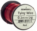 Semperfli wire 0,3 mm Red