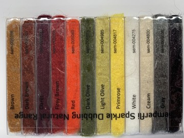 Sparkle Dubbing Dispenser Natural Collection 12 Dubbings