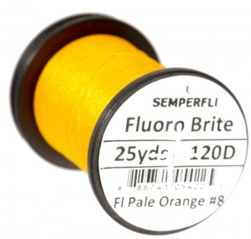 Fluoro Brite bindetråd 120D pale orange
