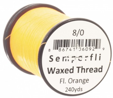 Semperfli bindetråd Classic Waxed 8/0 fluoro orange