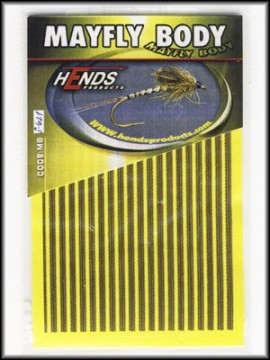 Hends Mayfly Body Small 621 Yellow/Brown/Gold