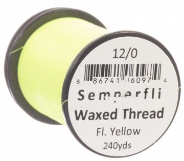 Semperfli bindetråd Classic Waxed 12/0 fluoro yellow