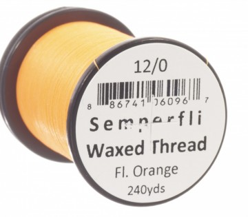 Semperfli bindetråd Classic Waxed 12/0 fluoro orange