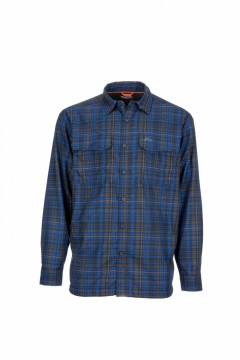Simms Coldweather Shirt Rich Blue Admiral Plaid