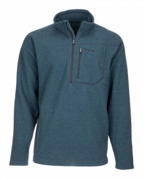 Simms Rivershed Quarter Zip Dark Moon
