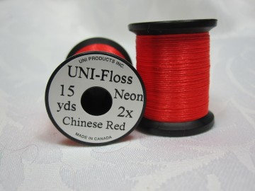 UNI Floss neon chinese red