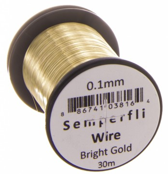 Semperfli Wire 0.2 mm Bright Gold