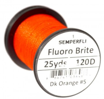 Fluoro Brite bindetråd 120D dark orange