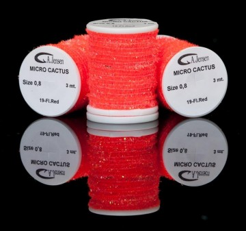 Micro Cactus chenille fluo red