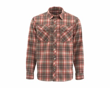 Simms Gallatin Flannel Simms Orange Plaid UTGÅENDE