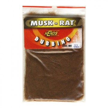 Muskrat dubbing 32 Dark Redish Brown