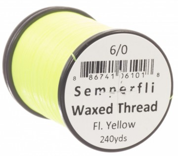 Semperfli bindetråd Classic Waxed 6/0 fluoro yellow