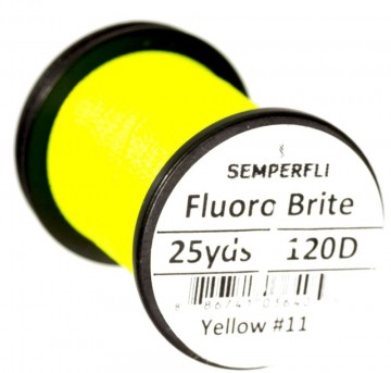 Fluoro Brite bindetråd 120D yellow