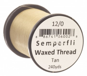 Semperfli bindetråd Classic Waxed 12/0 tan